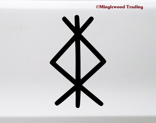 Protection Bindrune Vinyl Sticker - Norse Viking Protective Symbol - Die Cut Decal