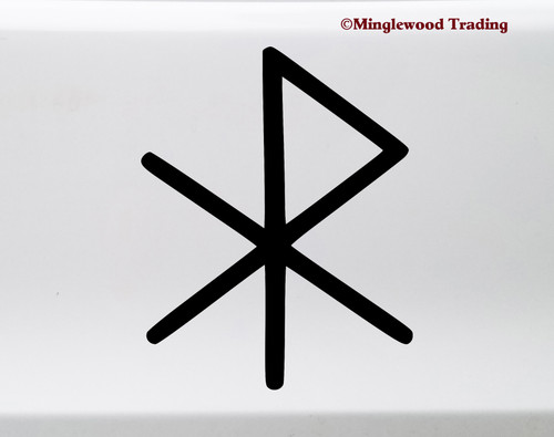 Love Bind Rune Vinyl Sticker - Viking Symbol Glyph Bindrune - Die Cut Decal