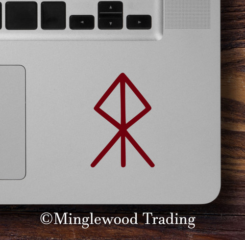 Courage Bind Rune Vinyl Sticker - Viking Symbol Bindrune - Die Cut Decal