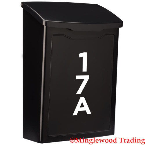 Vertical Bold Mailbox Numbers - 1-10 inches - Custom House Address Vinyl Sticker - Die Cut Decal - GOTH