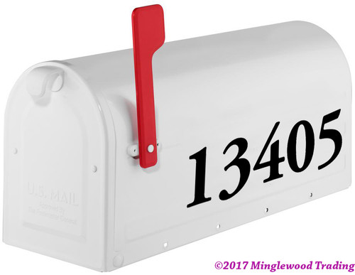 Old Style Mailbox Numbers - Vinyl Sticker - 1 to 10 inches tall - Name Home House Office Business Address - AGPB Die Cut Decal
