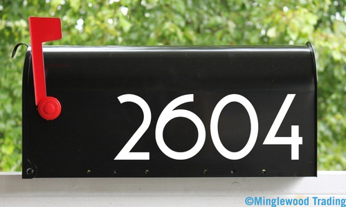 2 Sets of Custom Mailbox Numbers - Vinyl Die Cut Decals - 19 Style Choices