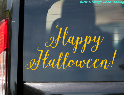 Happy Halloween! Vinyl Sticker - Autumn Fall Candy Trick or Treat - V1 Die Cut Decal