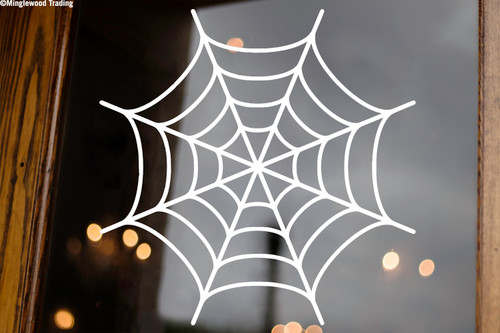 Spider's Web Vinyl Sticker - Halloween Spooky - V1 Die Cut Decal