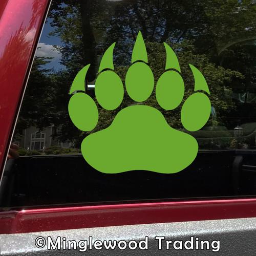 Bear Claw Vinyl Sticker - Pawprint Footprint Cub - Die Cut Decal