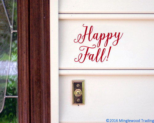 Happy Fall! Vinyl Sticker - Autumn Halloween Fall  - V2 Die Cut Decal