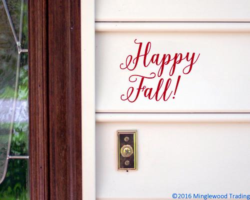 Happy Fall! Vinyl Sticker - Autumn Halloween Fall  - V2 Die Cut Decal