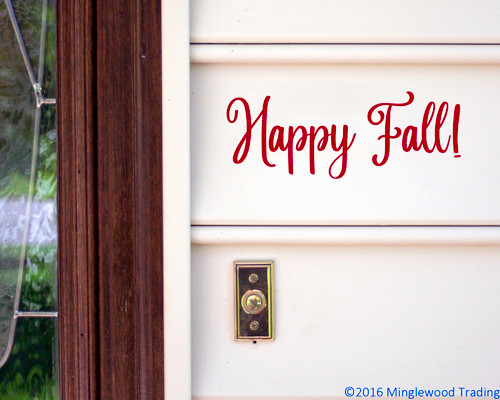 Happy Fall! Vinyl Sticker - Autumn Halloween Fall - V1 Die Cut Decal