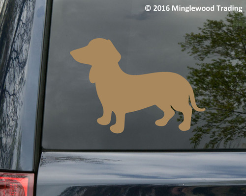 Dachsund Vinyl Sticker - Wiener Dog Puppy Doxie - Die Cut Decal V2