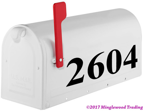 "Standard Mailbox Numbers Custom Vinyl Sticker - 1"" to 10"" tall - Name Home House Office Address - TNRB"