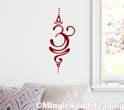 Breathe Sanskrit Symbol Vinyl Sticker - Pranayama Ujjayi Yoga - V1 Die Cut Decal