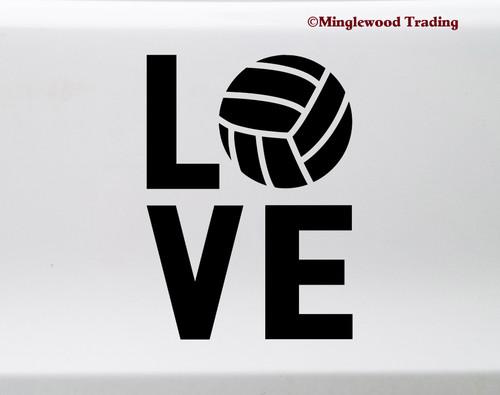 Volleyball Love Vinyl Sticker - Indoor Beach Spike Dig Set Pass - Die Cut Decal