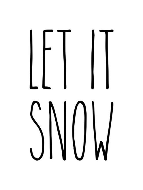 Let it Snow Vinyl Sticker - Farmhouse Style Skinny Font - Christmas Winter