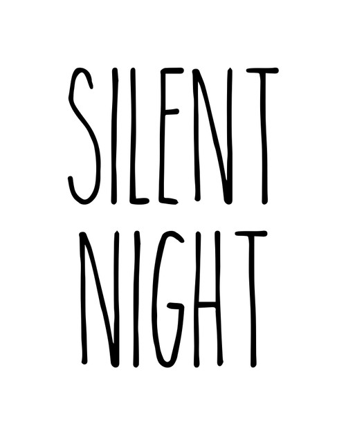 Silent Night Vinyl Sticker - Farmhouse Style Skinny Font - Winter Holidays Christmas Home Kitchen Decor - Die Cut Decal