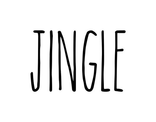 Jingle Vinyl Sticker - Christmas Decor Farmhouse Skinny Font Rae Dunn Inspired - Home Die Cut Decal