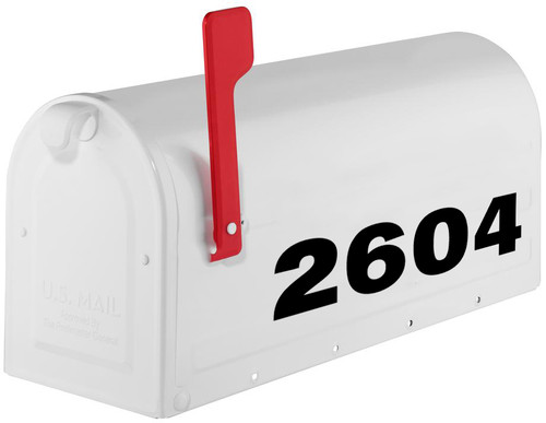 "Custom HOA Mailbox Numbers - Vinyl Sticker - 1"" to 8"" tall - Name Home House Office Address- Die Cut Decal - SSF"