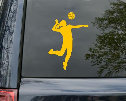 Volleyball Player Vinyl Decal V2 - Girl Female Serve - Die Cut Sticker