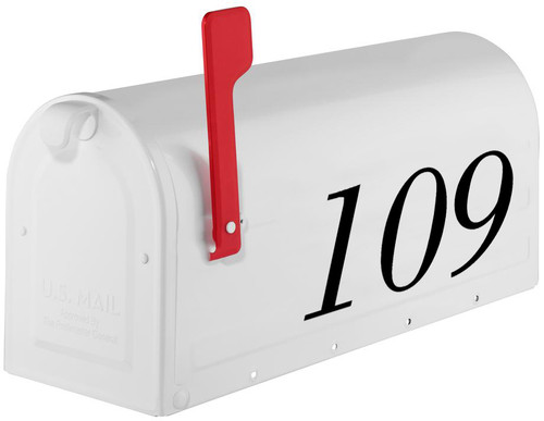 Decorative Mailbox Numbers Vinyl Decal HOA 1-8 inches tall Die Cut Sticker - BOD