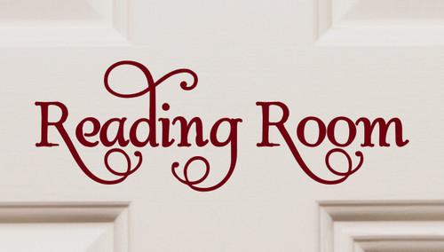 Reading Room Vinyl Decal - Library Books - Die Cut Sticker - Swash