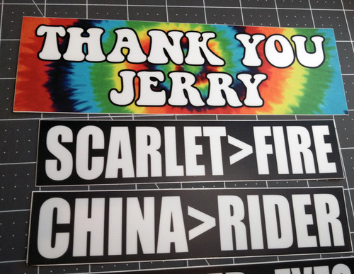 5-pack Grateful Dead Bumper Stickers V3 Jerry Garcia Dark Star Scarlet Fire China Rider