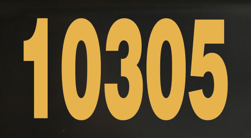 """One 2.5""""h x 4""""w HOA Mailbox Numbers in Gold - Vinyl Decals - Helvetica - Die Cut Stickers"""