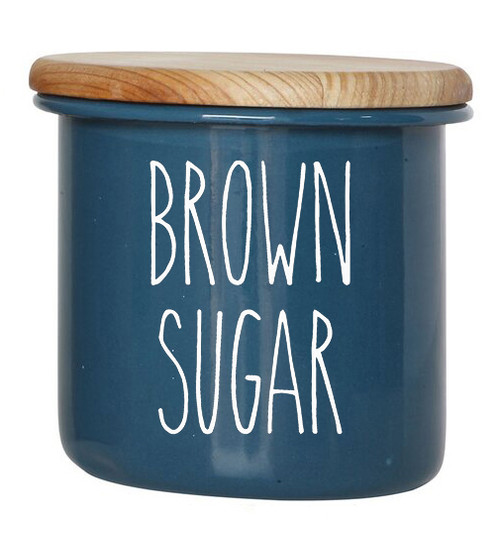 Brown Sugar - Rae Dunn Inspired Vinyl Sticker - Laundry Room Storage Home Organization Farmhouse - Die Cut Decal