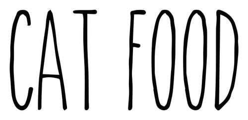 Cat Food Vinyl Decal - Kitten Pet Dinner - Farmhouse Skinny Font - Die Cut Sticker