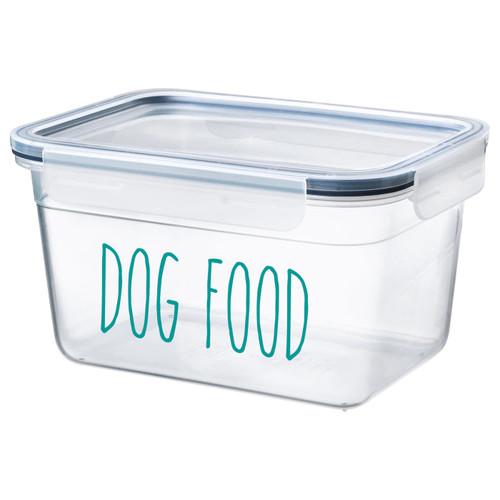 Dog Food Vinyl Decal - Puppy Pet Dinner - Rae Dunn Inspired Farmhouse Skinny Font - Die Cut Sticker
