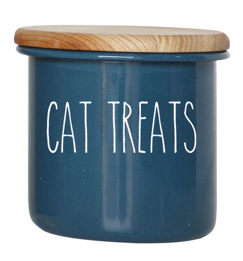 Cat Treats Vinyl Decal - Kitten Pet Snacks - Rae Dunn Inspired Farmhouse Skinny Font - Die Cut Sticker