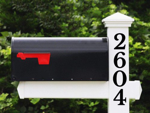 Vertical Numbers for Mailbox Vinyl Decal 1-10 inches Custom House Address Die Cut Sticker - LIBRE