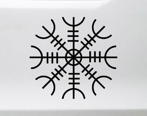 Helm of Awe Vinyl Decal V3 - Norse Mythology - Helm of Terror Viking Symbol - Die Cut Sticker