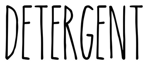 Detergent - Rae Dunn Inspired Vinyl Sticker - Laundry Room Storage Home Organization Farmhouse - Die Cut Decal