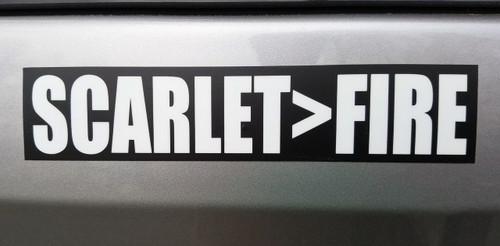 "Set of 2 SCARLET>FIRE 7"" x 1.5"" Die Cut Vinyl Decal Bumper Stickers - Grateful Dead Sticker - Jerry Garcia - Scarlet Begonias - 2-pack"