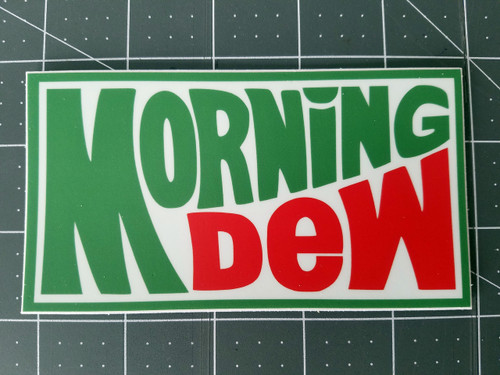 "Set of 2 MORNING DEW 5"" x 2.75"" Die Cut Vinyl Decal Bumper Stickers - Grateful Dead Sticker - Jerry Garcia - 2-pack"