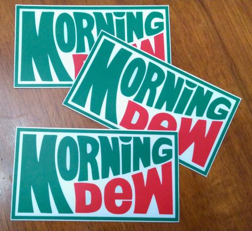 "3-pack Morning Dew 5"" x 3"" Die Cut Vinyl Decal Bumper Stickers - Grateful Dead Sticker - Jerry Garcia"
