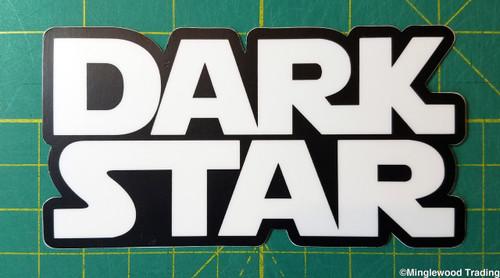 "Set of 2 DARK STAR 4.75"" x 2.5"" Die Cut Vinyl Decal Bumper Stickers - The Grateful Dead - Jerry Garcia - 2-pack"