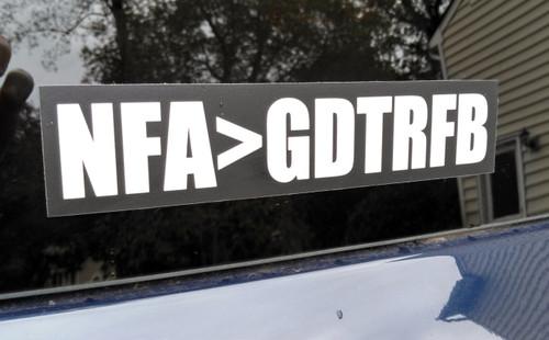 "NFA>GDTRFB 7"" x 1.5"" Bumper Sticker  - The Grateful Dead Vinyl Decal - Jerry Garcia Not Fade Away"