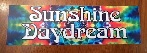 """Sunshine Daydream 8"""" x 2.5"""" Tie Dye Die Cut Vinyl Decal Bumper Sticker - The Grateful Dead Jerry Garcia"""