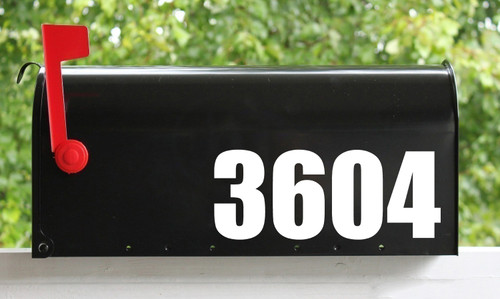 """Custom Mailbox Numbers - Vinyl Sticker - 1"""" to 10"""" tall - Name Home House Office Address- Die Cut Decal - IMPACT"""