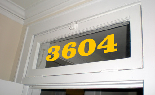 """Custom Transom Window Numbers Vinyl Decal 3"""" to 10"""" tall - Home Address House Door Office - Die Cut Sticker"""