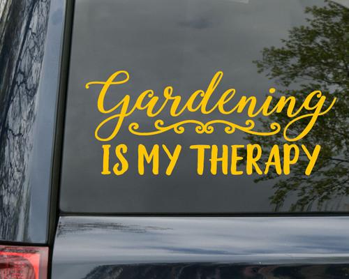 Gardening is My Therapy Vinyl Decal - Flowers Plants Garden - Die Cut Sticker