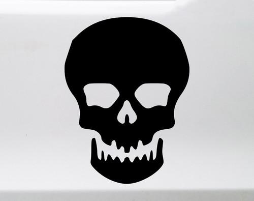 Skull Vinyl Decal V1 - Skeleton Spooky Halloween - Die Cut Sticker