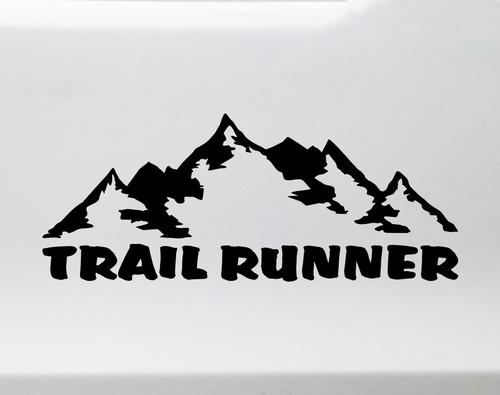 Trail Runner Vinyl Decal V2 - Mountains Ultra Forest Running - Die Cut Sticker