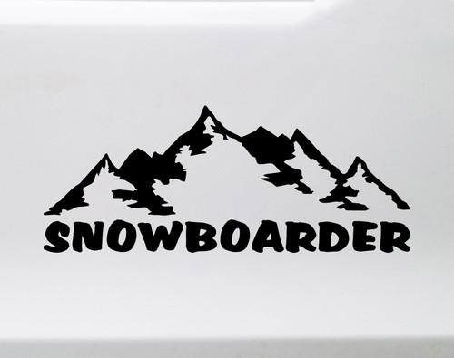 Snowboarder Vinyl Decal V2 - Mountains Snow Sport - Die Cut Sticker