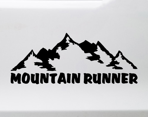Mountain Runner Vinyl Decal - Ultra Fell Running Hill - Die Cut Sticker
