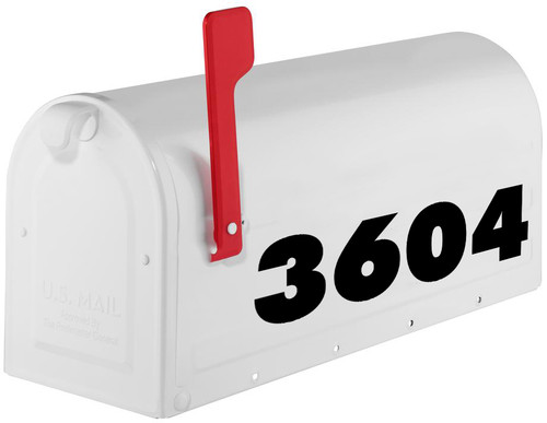 """Custom Text for House or Mailbox - Vinyl Decal Sticker - 1"""" to 10"""" tall - Transom Numbers Name Address - FXB"""