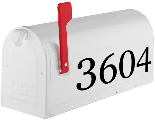 """Copy of Custom Text for House or Mailbox - Vinyl Decal Sticker - 1"""" to 10"""" tall - Transom Numbers Name Address - GP"""