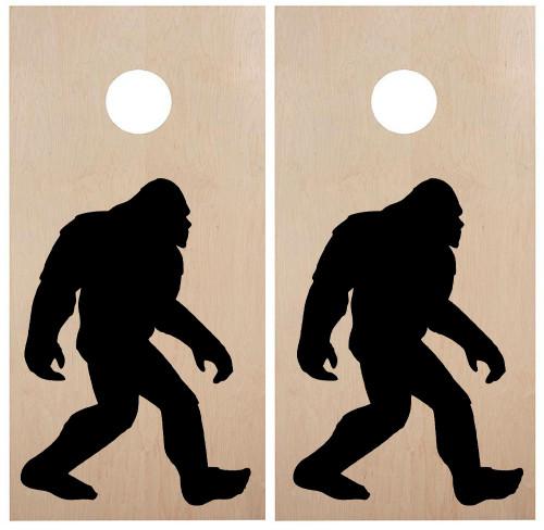 Bigfoot Cornhole Board Decals V2 - PNW Sasquatch  - Vinyl Die Cut Stickers - each 20w x 30h inches