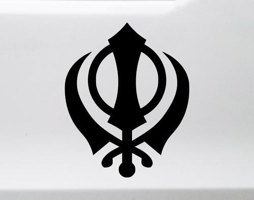 Khandra Sikh Symbol Vinyl Decal - Chakkar Sikhism - Die Cut Sticker