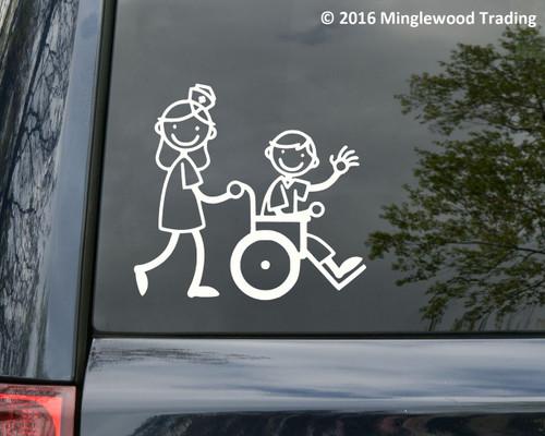 Following Jesus 11.5 x 7 Window sticker Car//RV//Religious//Outdoor Vinyl Decal